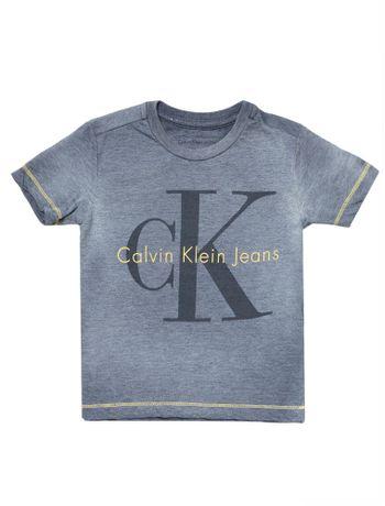 Camiseta-Infantil-Calvin-Klein-Jeans-Logo-Devore-Marinho