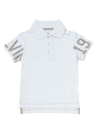 Polo-Infantil-Calvin-Klein-Jeans-Estampa-Mangas-Branco