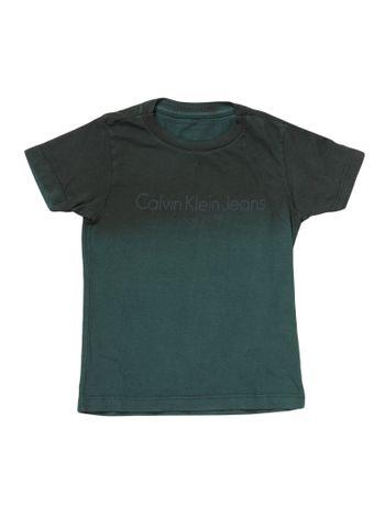 Camiseta-Infantil-Calvin-Klein-Jeans-Institucional-E-Degrade-Floresta