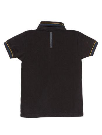 Polo-Infantil-Calvin-Klein-Jeans-Listras-E-Logo-Peito-Preto