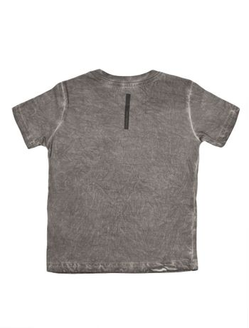 Camiseta-Infantil-Calvin-Klein-Jeans-Estampa-E-Lavanderia-Cinza-Chumbo