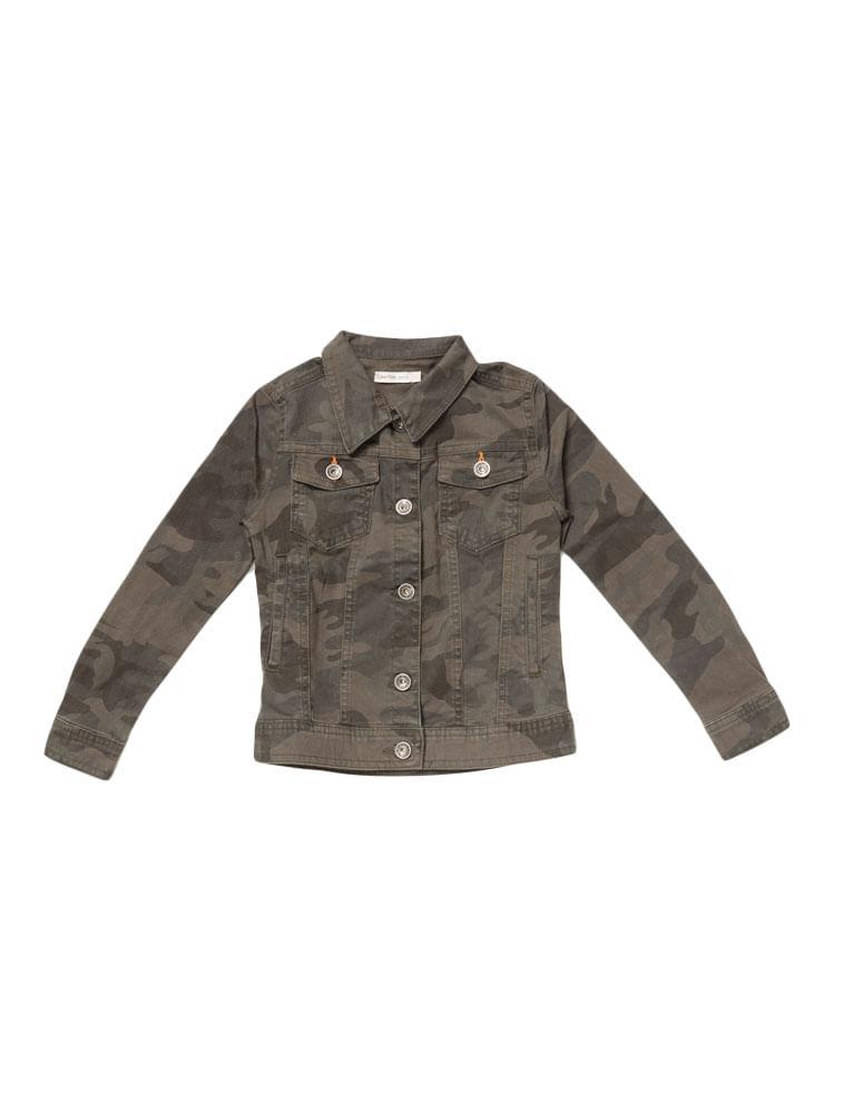 edfc0fa07 Jaqueta Calvin Klein Jeans Estampa Camuflada Militar - Calvin Klein