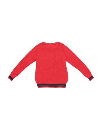 Sueter-Infantil-Calvin-Klein-Jeans-Logo-Frontal-Vermelho