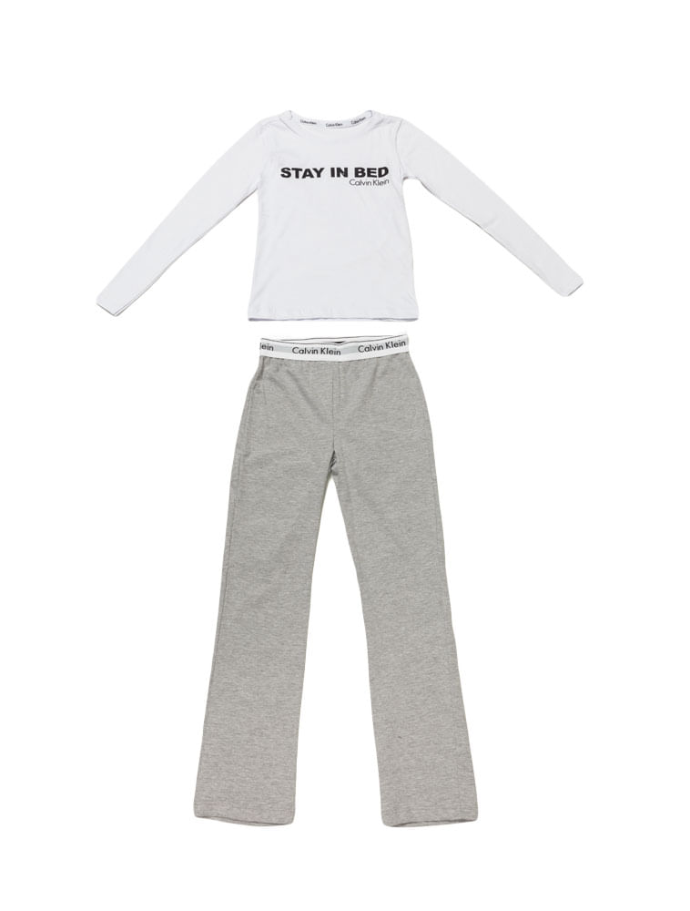 86b170980 Pijama-Calvin-Klein-Underwear-Camiseta-Manga-Longa-e-Calca-De-Meia-Malha- Mescla