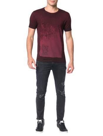 Camiseta-Calvin-Klein-Jeans-Estampa-Tinto-Sujo-Vermelho