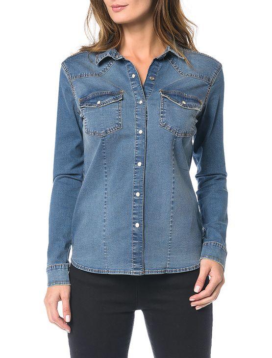 Camisa-Calvin-Klein-Jeans-Azul-Medio