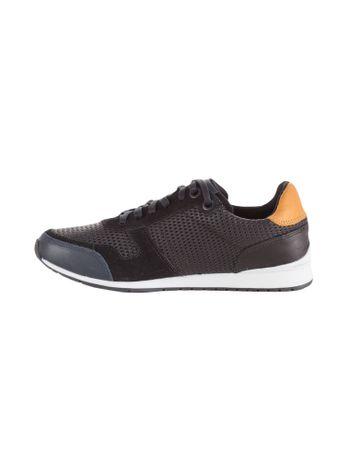 Tenis-Calvin-Klein-Jeans-Couro-Jogging-Losango-Preto