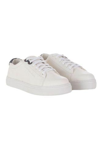 Tenis-Calvin-Klein-Jeans-Couro-Sola-Alta-Branco