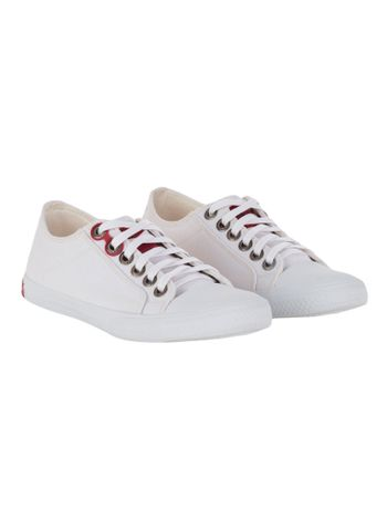 Tenis-Calvin-Klein-Jeans-De-Lona-CK-Re-Issue-Branco