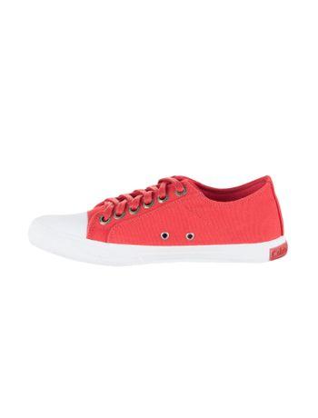 Tenis-Vermelho-Calvin-Klein-Jeans-Lona-CK-Re-Issue