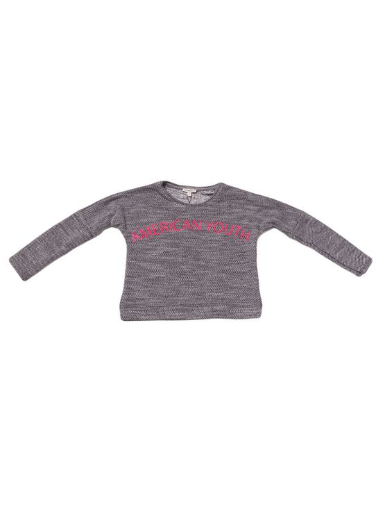 Blusa-Infantil-Calvin-Klein-Jeans-Estampa-Floco-Preto