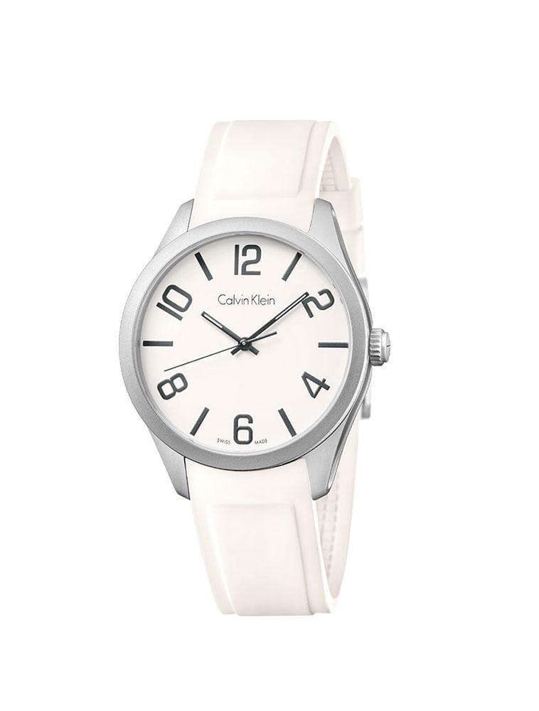 8c068cba209 Relógio Calvin Klein com Pulseira de Silicone Colors Branco - Calvin ...