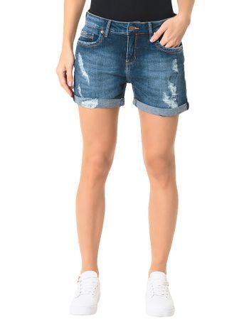 Bermuda-Calvin-Klein-Jeans-Five-Pockets-Azul-Medio