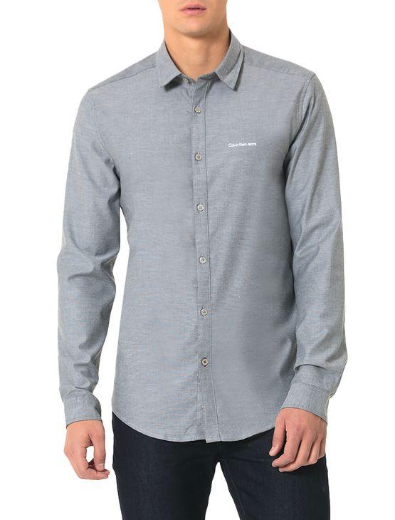 Camisa-Calvin-Klein-Jeans-Piquet-Preto