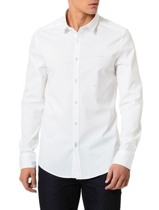 Camisa-Calvin-Klein-Jeans-Logo-Ckj-Branco