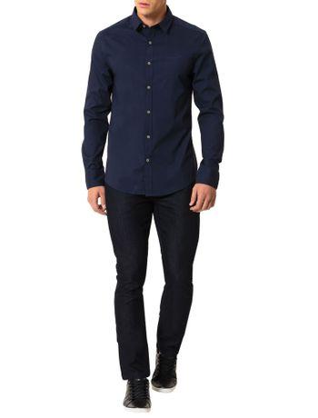 Camisa-Calvin-Klein-Jeans-Logo-Ckj-Marinho