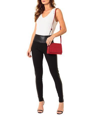 Bolsa-Pequena-Calvin-Klein-Jeans-Verniz-e-Couro-Vermelho