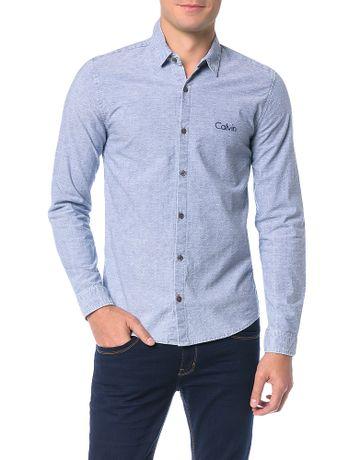 Camisa-Calvin-Klein-Jeans-Maquinetado-Indigo-Marinho