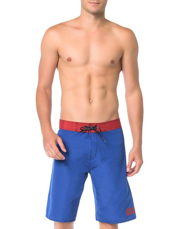 Bermuda-D-Agua-Calvin-Klein-Swimwear-Basica-Calvin-Azul-Carbono