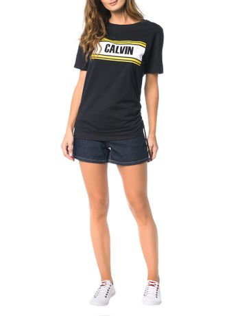 Blusa-Calvin-Klein-Jeans-Estampa-E-Franzido-Lateral-Preto