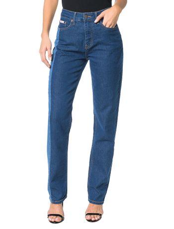 Calca-Calvin-Klein-Jeans-Five-Pockets-Straight-High-Azul-Medio