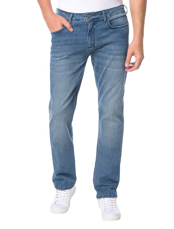 Calca-Calvin-Klein-Jeans-5-Pckets-Relaxed-Straight-Azul-Medio