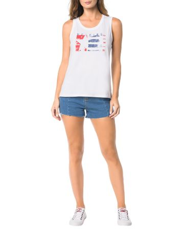 Blusa-Calvin-Klein-Jeans-Com-Estampa-Frontal-Estrela-Branco