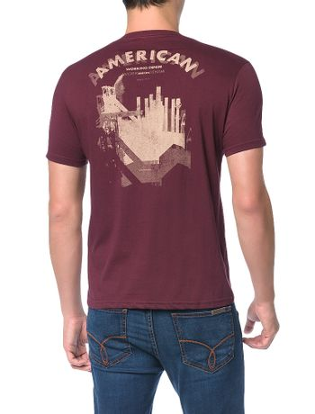 a8e33f0efd971 Camiseta-Calvin-Klein-Jeans-Estampa-Costas-American-Bordo