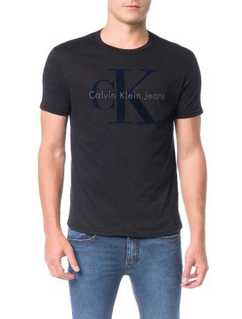 Camiseta-Calvin-Klein-Jeans-Estampa-Logo-CK-Relevo-Preto