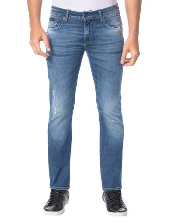 Calca-Calvin-Klein-Jeans-Five-Pockets-Slim-Straight-Azul-Marinho