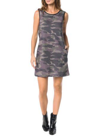 Vestido-Calvin-Klein-Jeans-Malha-Estampa-Camuflado-Preto