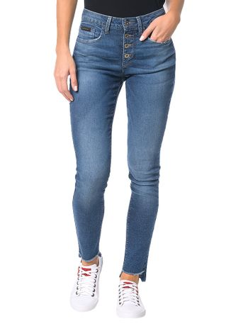 Calca-Calvin-Klein-Jeans-Five-Pockets-Jegging-High-Azul