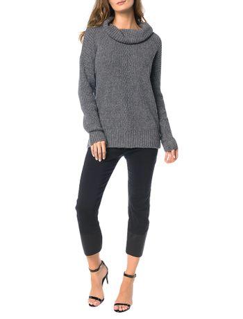 Tricot-Calvin-Klein-Jeans-Punho-Desagulhado-Chumbo