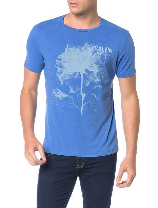 Camiseta-Calvin-Klein-Jeans-Estampa-Flor-Azul-Carbono