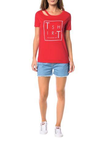 Blusa-Calvin-Klein-Jeans-Estampa-Frontal-Vermelho