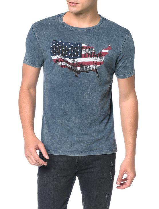 Camiseta-Calvin-Klein-Jeans-Estampa-Bandeira-Usa-Marinho