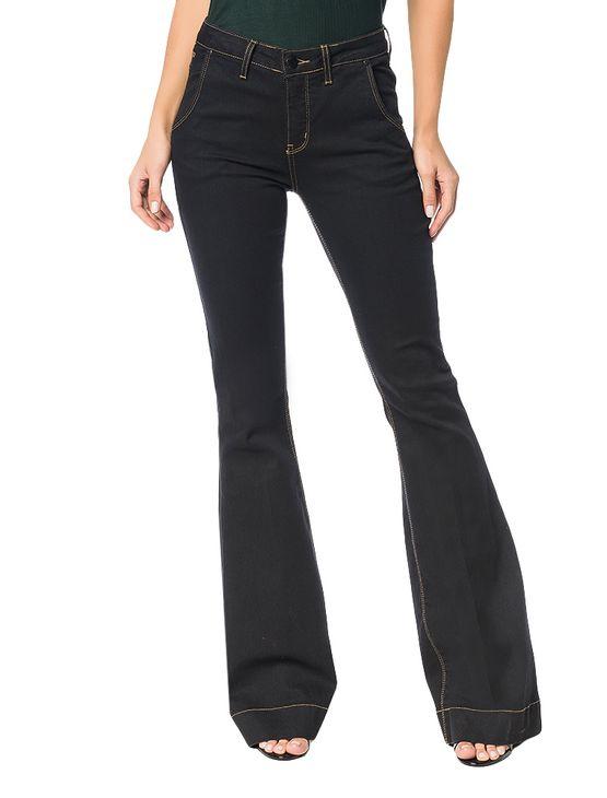 Calca-Calvin-Klein-Jeans-Five-Pockets-Flare-Preto