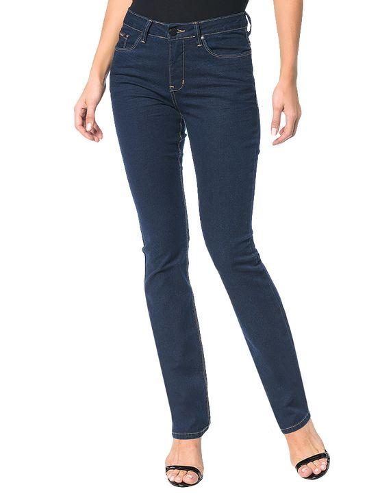 75120d0bd8a32 Calça Calvin Klein Jeans Five Pockets Straight Marinho - Calvin Klein
