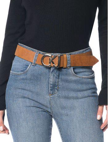 Cinto-Couro-Fivela-Calvin-Klein-Jeans-Havana