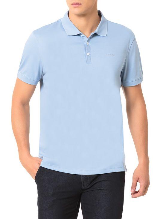 4c9fa8f78e2f0 Polo Calvin Klein Básica Liquid Azul Claro - Calvin Klein