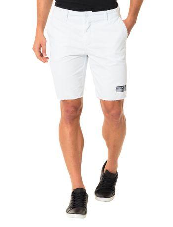 Bermuda-Color-Calvin-Klein-Jeans-Chino-Bolso-Lateral-Branco