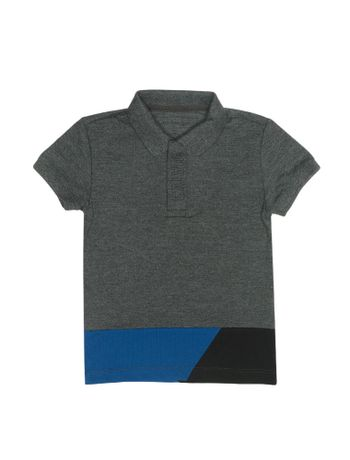 Polo-Infantil-Calvin-Klein-Jeans-Recortes-E-Logo-Chumbo