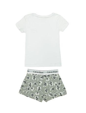 Pijama-Calvin-Klein-Underwear-Camiseta-e-Short-Modern-Cotton-Floral-Mescla
