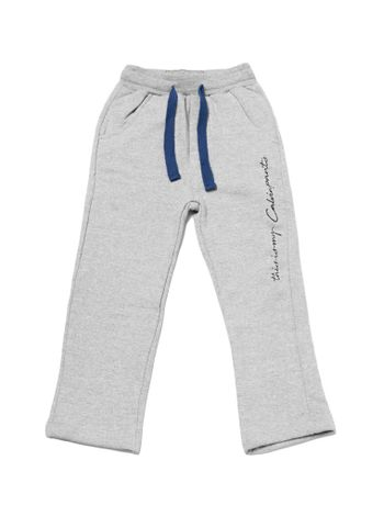 Calca-Moletom-Infantil-Calvin-Klein-Jeans-This-Is-My-Calvin-Mescla