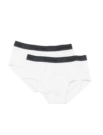 Kit-2-Cuecas-Brief-Calvin-Klein-Underwear-De-Cotton-Branco