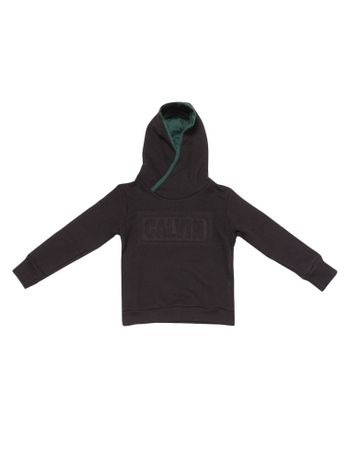 Casaco-Moletom-Infantil-Calvin-Klein-Jeans-Capuz-Logo-Baixo-Relevo-Preto