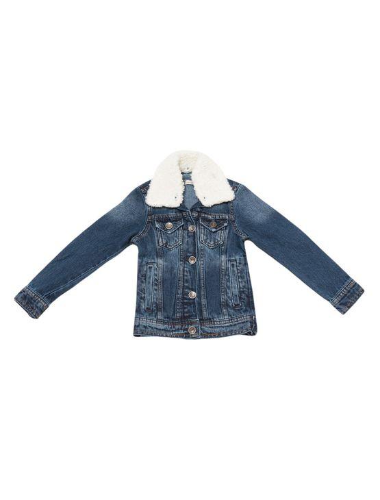 Jaqueta-Jeans-Infantil-Com-Pelo-Marinho