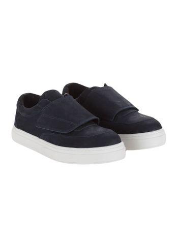 Tenis-Calvin-Klein-Jeans-Couro-Velcro-Marinho