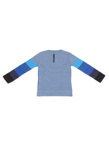 Sueter-Infantil-Calvin-Klein-Jeans-Listrado-Degrade-Marinho