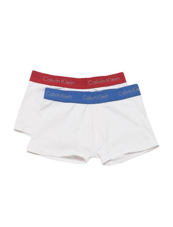 Kit-2-Cuecas-Trunk-Infantil-Calvin-Klein-Underwear-Branco